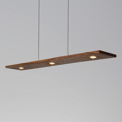 Vix LED Linear Pendant - Oiled Walnut Finish