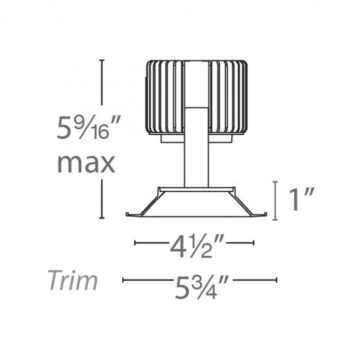 Volta 4.5″ Shallow Regressed Trim Round - Diagram
