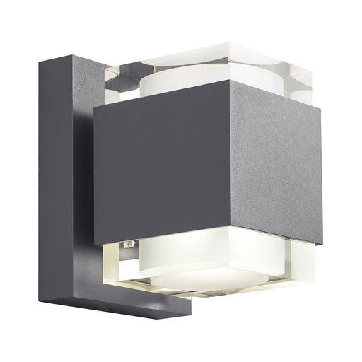"Voto 8"" Outdoor LED Uplight & Downlight Wall Sconce - Charcoal Finish"