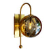 Wall Sconce - Gold Finish with Smoked Glass