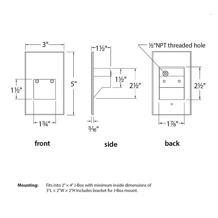 WL-LED201 Step And Wall Light - Diagram