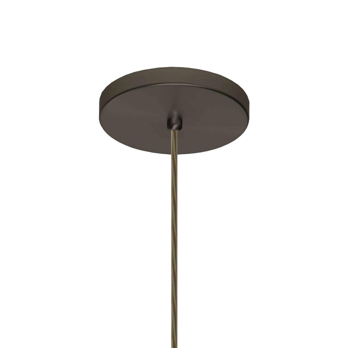 Trilo 15 Pendant Light Bronze Flat Canopy Connection