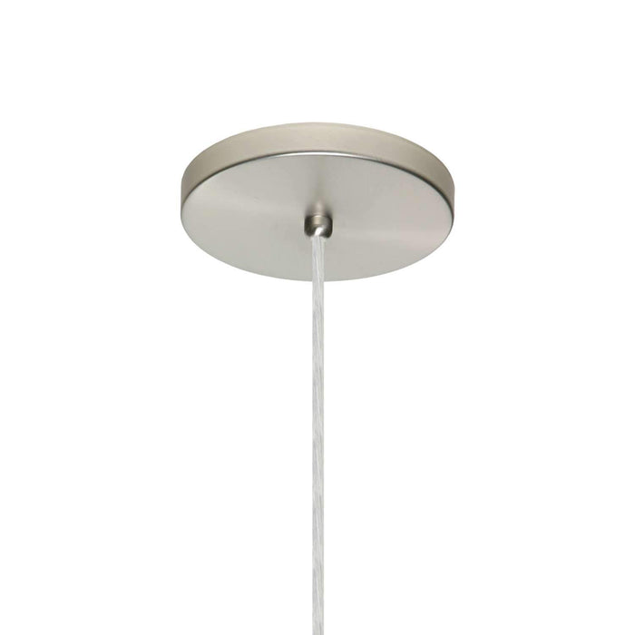 Trilo 15 Pendant Light Satin Nickel Flat Canopy Connection
