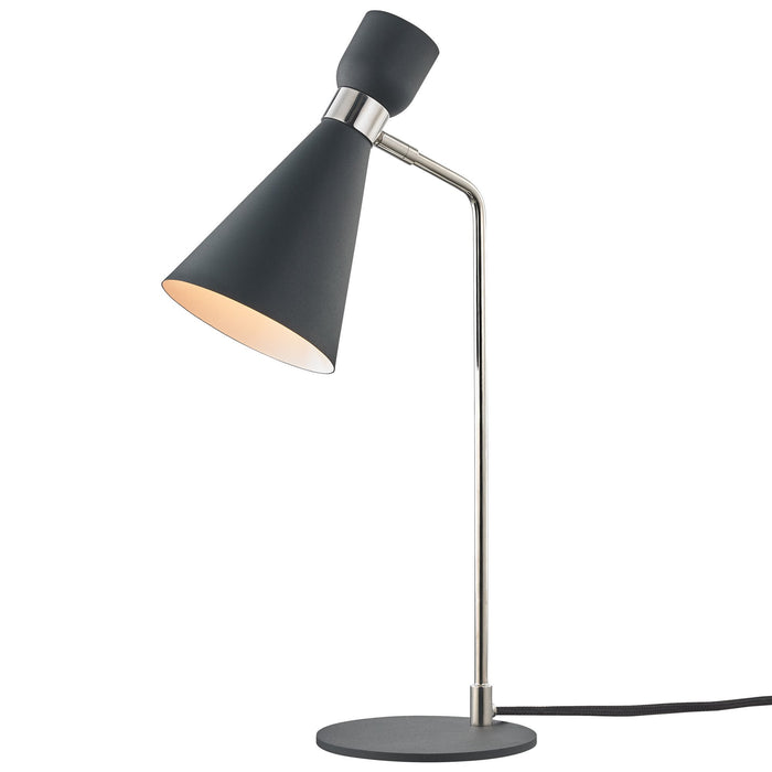 Willa Table Lamp - Polished Nickel/Black Finish