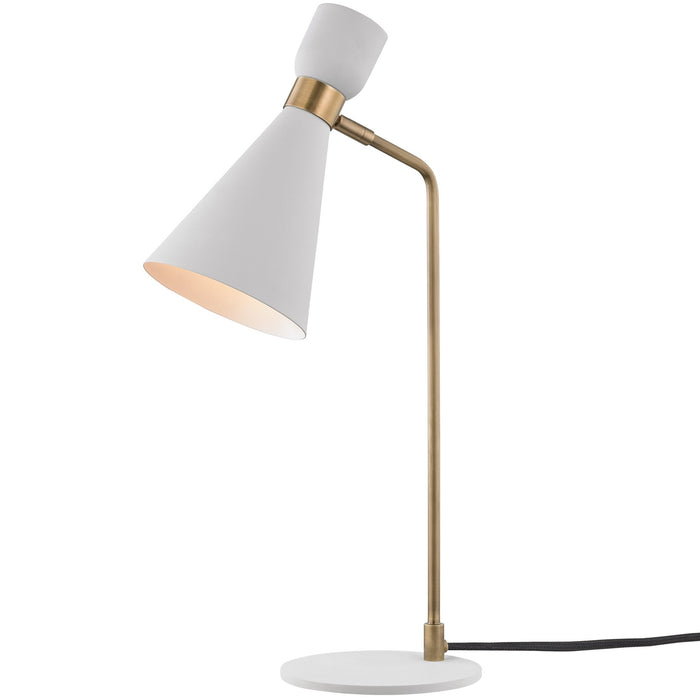 Willa Table Lamp - Aged Brass/Soft Off White