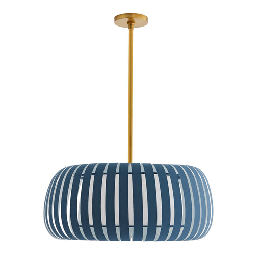 Wilson Pendant - Antique Brass & Blue