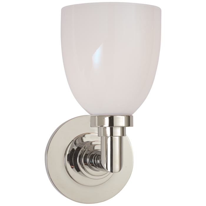 Wilton Single Bath Light Polished Nickel