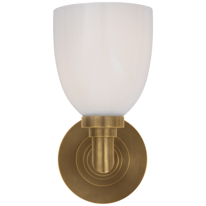 Wilton Single Bath Light Hand-Rubbed Antique Brass