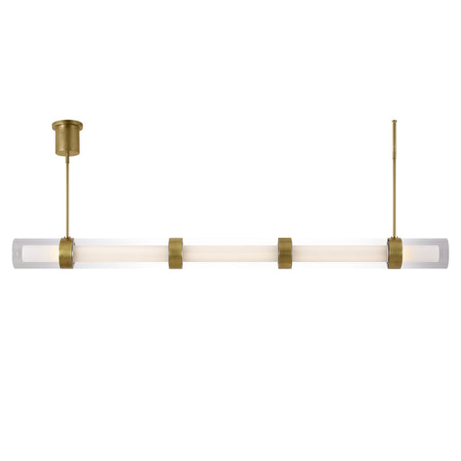 Wit Linear Suspension (5 Glass) - Brass