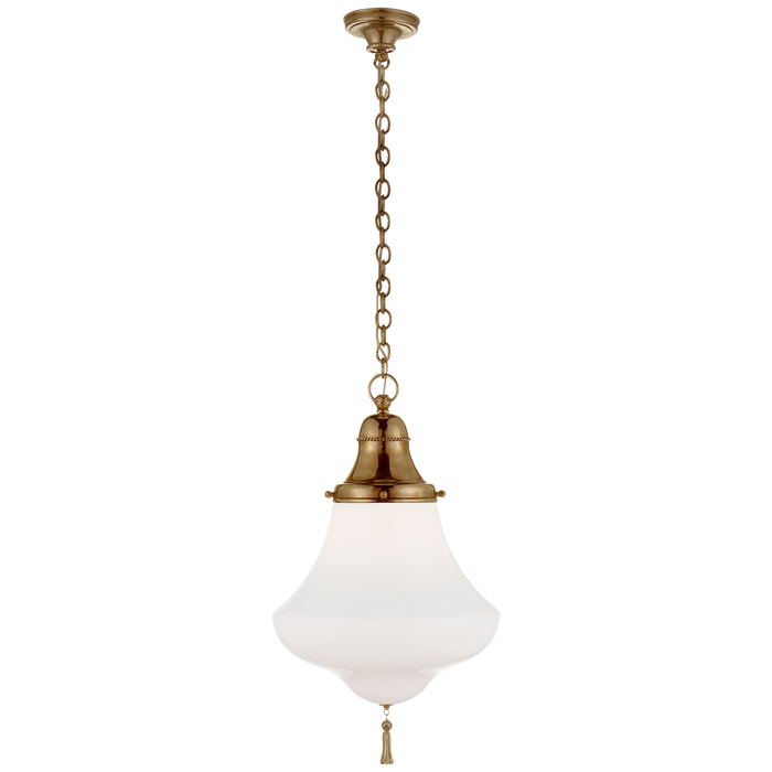Xavier Small Pendant - Natural Brass Finish