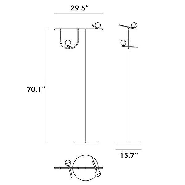 Yanzi LED Floor Lamp - Diagram