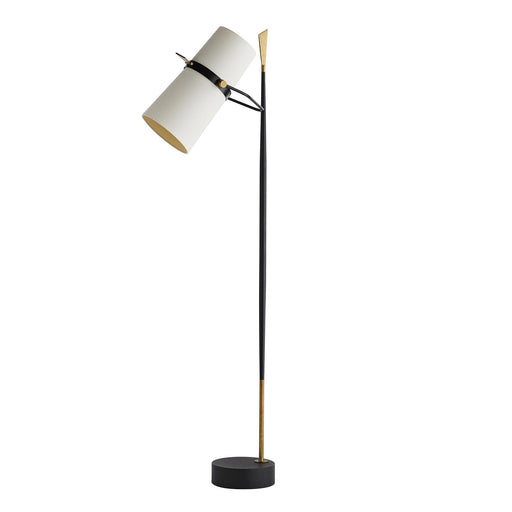 Yasmin Floor Lamp - Antique Black/Antique Brass Finish