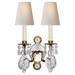 Yves Crystal Double Arm Sconce