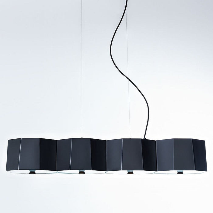 Zhe 4 Piece Pendant Light - Matte Black Finish