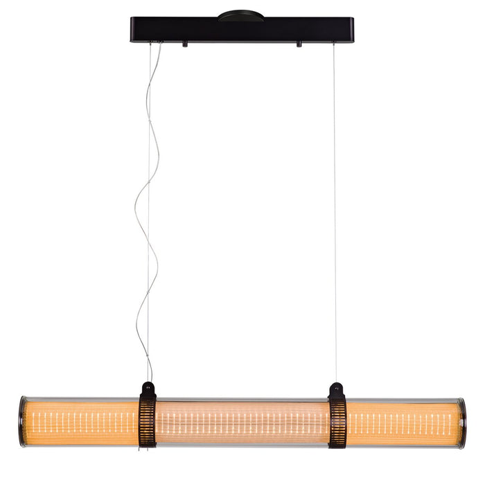 "Zhu 41.3"" Linear Suspension - Deep Taupe Finish"