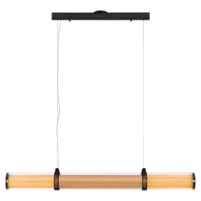"Zhu 59"" Linear Suspension - Deep Taupe Finish"