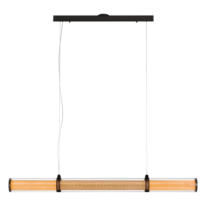 "Zhu 74.8"" Linear Suspension - Deep Taupe Finish"