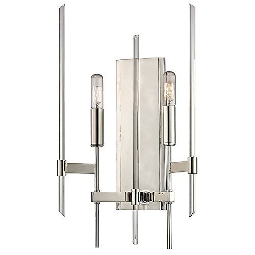 Bari Two Light Wall Sconce - Polished Nickel Finish