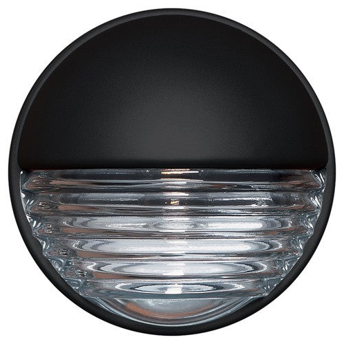 3019 Series Outdoor Wall Sconce - Black Finish Clear Glass