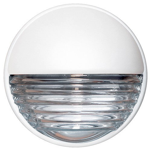 3019 Series Outdoor Wall Sconce - White Finish Clear Glass