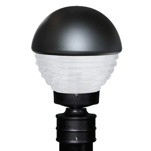 3061 Series Outdoor Post Light - Black Finish Frost Glass