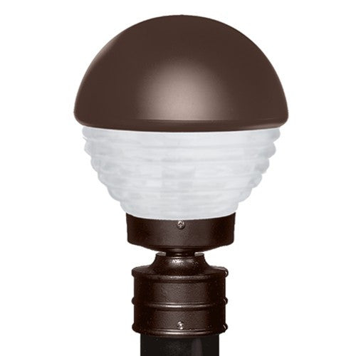 3061 Series Outdoor Post Light - Bronze Finish Frost Glass