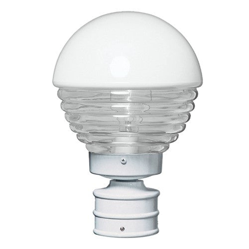 3061 Series Outdoor Post Light - White Finish Clear Glass