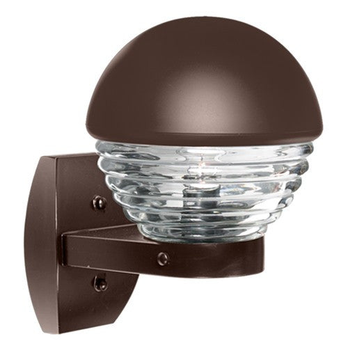 3061 Series Outdoor Wall Sconce - Bronze Finish Clear Glass