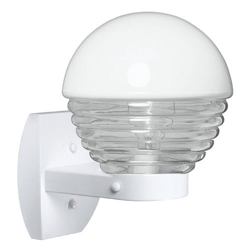 3061 Series Outdoor Wall Sconce - White Finish Clear Glass