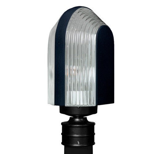 3139 Series Outdoor Post Light - Black Finish Clear Glass