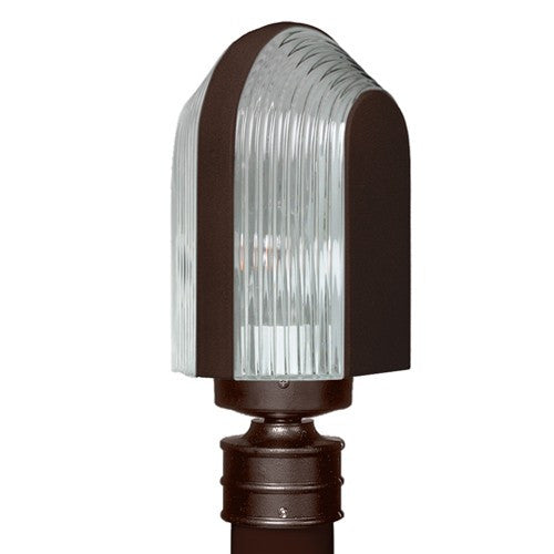 3139 Series Outdoor Post Light - Bronze Finish Clear Glass