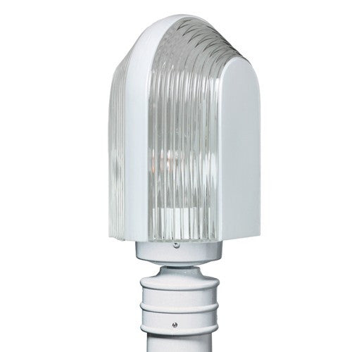 3139 Series Outdoor Post Light - White Finish Clear Glass