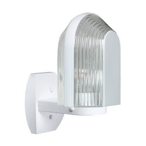 3139 Series Outdoor Wall Sconce - White Finish Clear Glass