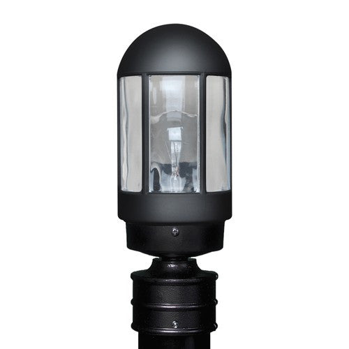 3151 Series Outdoor Post Light - Black Finish Clear Glass
