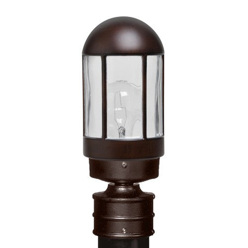3151 Series Outdoor Post Light - Bronze Finish Clear Glass