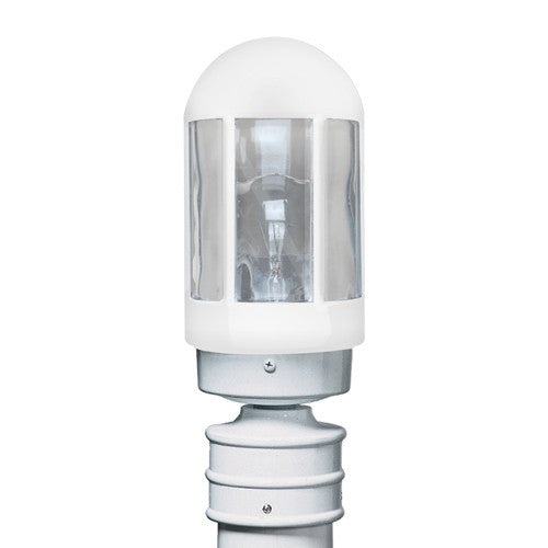 3151 Series Outdoor Post Light - White Finish Clear Glass