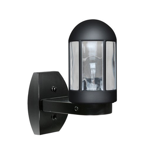 3151 Series Outdoor Wall Sconce - Black Finish Clear Glass
