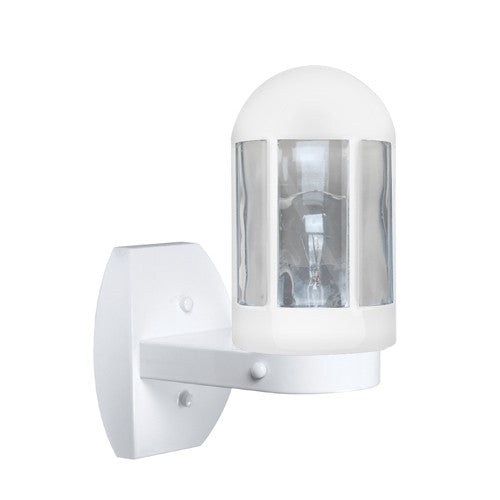 3151 Series Outdoor Wall Sconce - White Finish Clear Glass