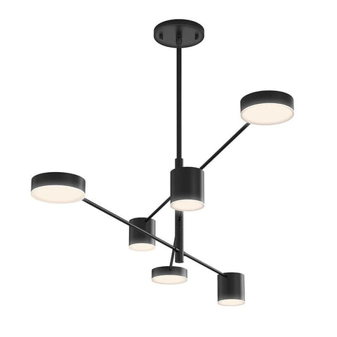 Counterpoint 6-Light LED Pendant Satin Black