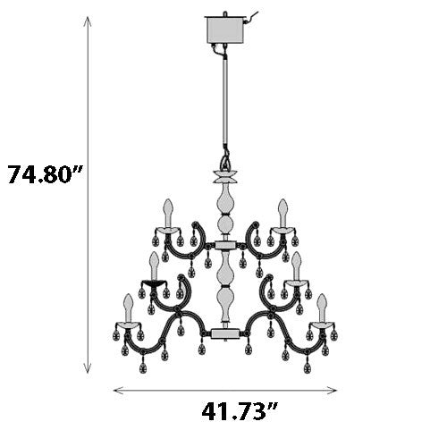 Drylight 24 Light Outdoor Chandelier