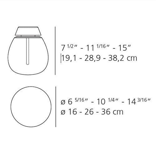 Empatia Wall/Ceiling Light - Diagram