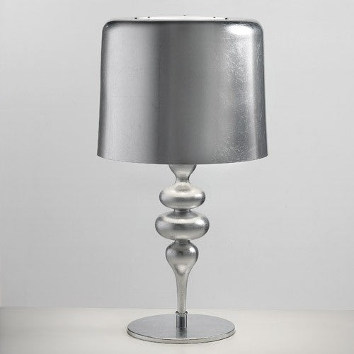 Eva 4 Light Table Lamp - Silver Leaf Finish