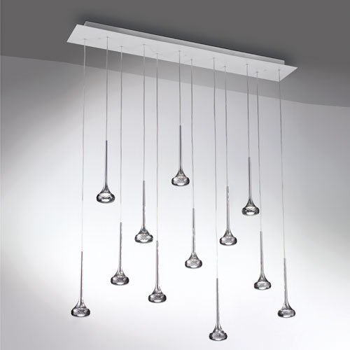 Fairy LED Multi-Light Linear Suspension - Gray Finish
