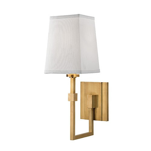 Fletcher 1 Light Wall Sconce - Aged Brass Finish