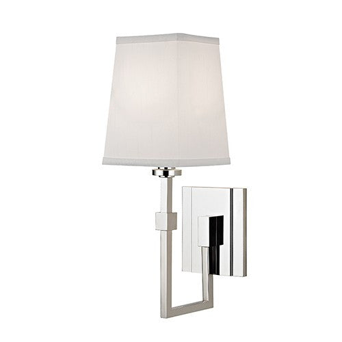 Fletcher 1 Light Wall Sconce - Polished Nickel Finish