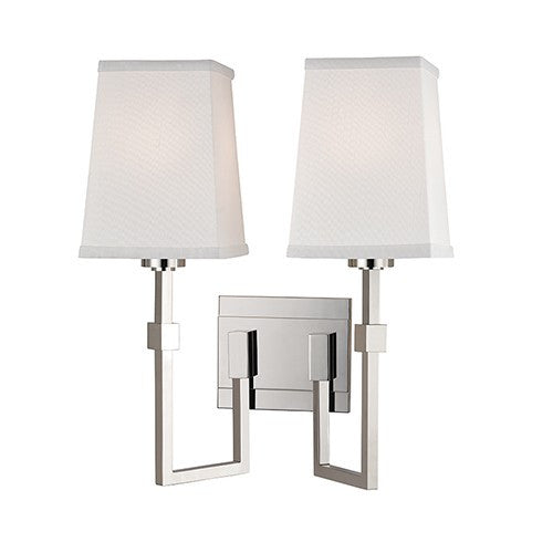 Fletcher 2 Light Wall Sconce - Polished Nickel Finish