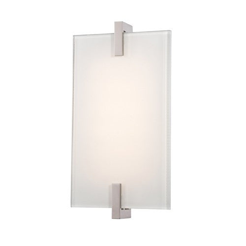 Hooked LED Wall Sconce - Polished Nickel Finish