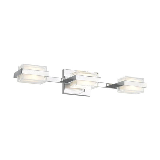 Kamden 3-Light Shallow Bath Bar - Chrome Finish