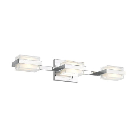 KAMDEN 3-LIGHT BATH Chrome Shallow