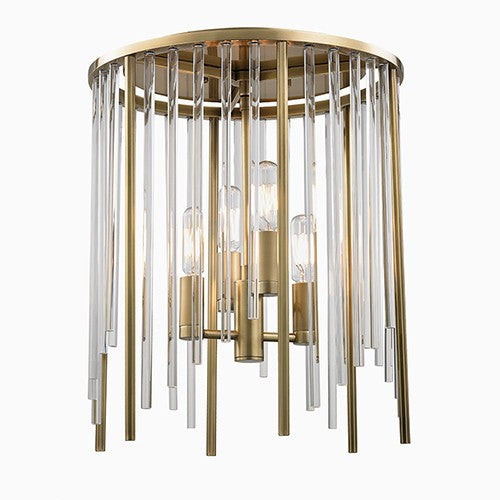Lewis Flush Mount Ceiling Light - Aged Brass
